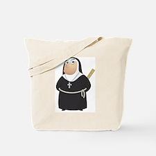Angry Nun Tote Bag