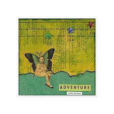 "Adventure Under  Stars Square Sticker 3"" x 3"""