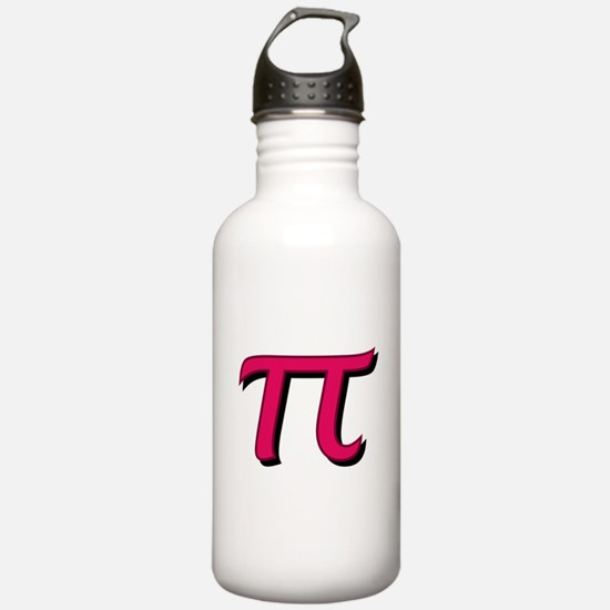 Pi Symbol - Raspberry Water Bottle