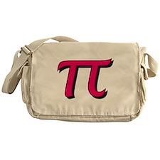 Pi Symbol - Raspberry Color Messenger Bag