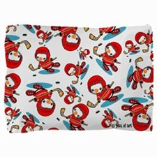 Ice Hockey Penguins Pillow Sham