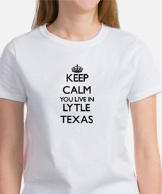 Keep calm you live in Lytle Texas T-Shirt