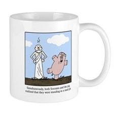 Socrates and the Pig Mug