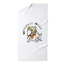 BULLDOGS RULE Beach Towel