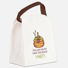 TOO MUCH YARN Canvas Lunch Bag