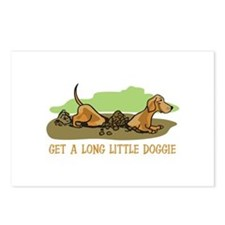 LONG LITTLE DOGGIE Postcards (Package of 8)