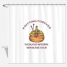 KNITTING FOREVER Shower Curtain