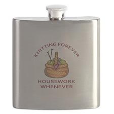 KNITTING FOREVER Flask