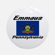 Emmaus Pennsylvania Ornament (Round)