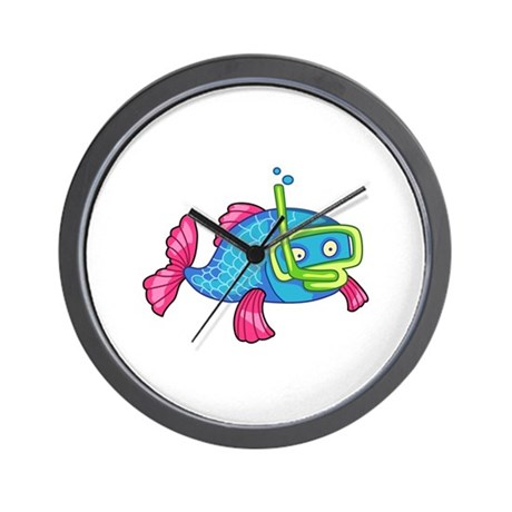 Fish snorkeling wall clock by greatnotions30 for Fish wall clock