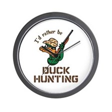 RATHER BE DUCK HUNTING Wall Clock
