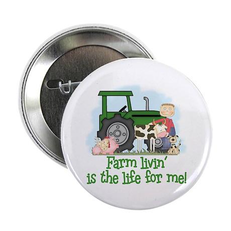 "Farm Livin' (Boy) 2.25"" Button (100 pack)"