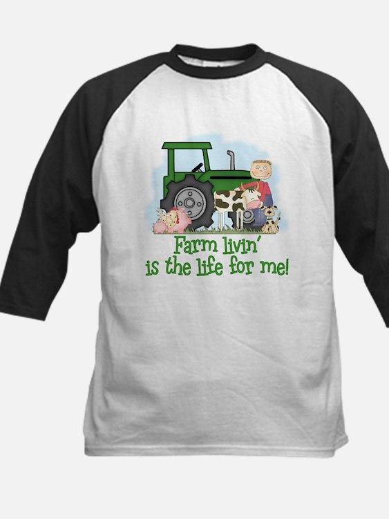 Farm Livin' (Boy) Kids Baseball Jersey