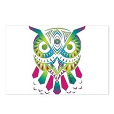 Funny Pink owl Postcards (Package of 8)