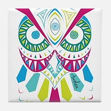 3rd Eye Awaken Owl Tile Coaster