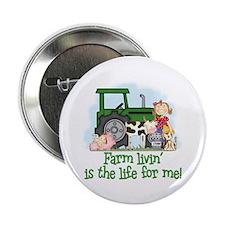 "Farm Livin' (Girl) 2.25"" Button (10 pack)"