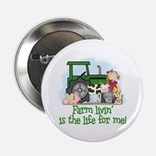 Farm Livin' (Girl) Button