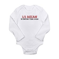 Cute Funny asian Long Sleeve Infant Bodysuit