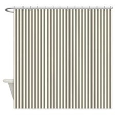 Black Ticking Shower Curtain
