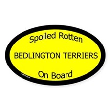 Spoiled Bedlington Terriers Oval Decal