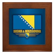 Bosnia and Herzegovina Framed Tile