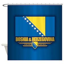 Bosnia and Herzegovina Shower Curtain