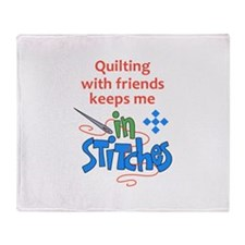 QUILTING WITH FRIENDS Throw Blanket