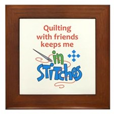 QUILTING WITH FRIENDS Framed Tile