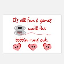 ALL FUN AND GAMES Postcards (Package of 8)