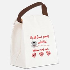 ALL FUN AND GAMES Canvas Lunch Bag