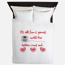 ALL FUN AND GAMES Queen Duvet