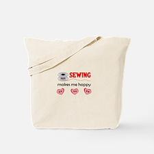 SEWING MAKES ME HAPPY Tote Bag