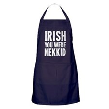 I Wish You Were Nekkid Apron (dark)