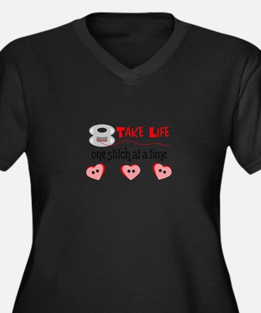 ONE STITCH AT A TIME Plus Size T-Shirt
