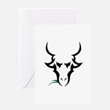 TRIBAL GOAT Greeting Cards
