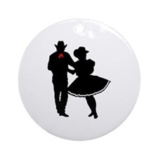 SQUARE DANCERS Ornament (Round)