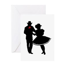 SQUARE DANCERS Greeting Cards