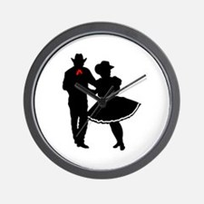 SQUARE DANCERS Wall Clock