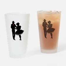 SQUARE DANCERS Drinking Glass