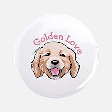 """GOLDEN LOVE 3.5"""" Button"""