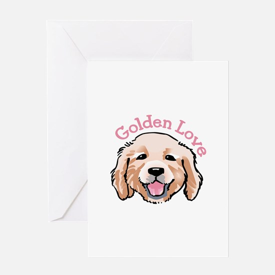 GOLDEN LOVE Greeting Cards