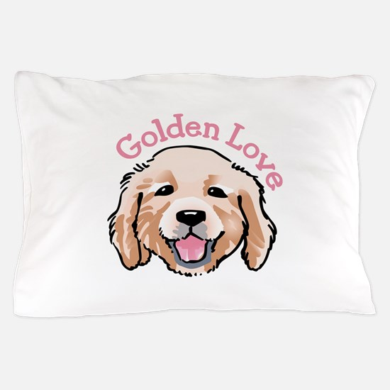 GOLDEN LOVE Pillow Case