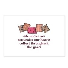 MEMORIES ARE SOUVENIRS Postcards (Package of 8)