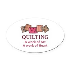 A WORK OF HEART Oval Car Magnet