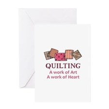 A WORK OF HEART Greeting Cards