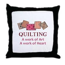 A WORK OF HEART Throw Pillow
