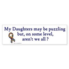 Puzzling (Daughters) Bumper Car Sticker