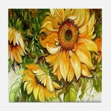 Pretty Sunflowers Tile Coaster