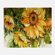 Pretty Sunflowers Throw Blanket