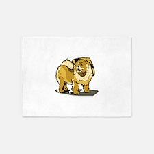 CHOW DOG 5'x7'Area Rug